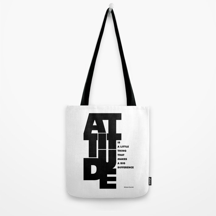 Lab No. 4 - Life Inspirational Quotes Of Attitude Inspirational Quotes Poster Tote Bag