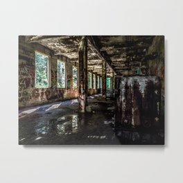 Inside the Ruins Metal Print