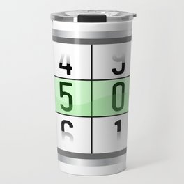 """A Nice Birthday Tee """"Oldometer 50"""" For Anyone Who's Birthday Is Happening Soon Happy Natal Day Travel Mug"""