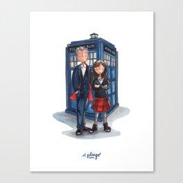 The Doctor & Clara Canvas Print