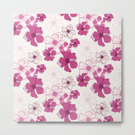 Pink Poppy Bash Metal Print