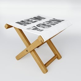New York  B&W typography Folding Stool