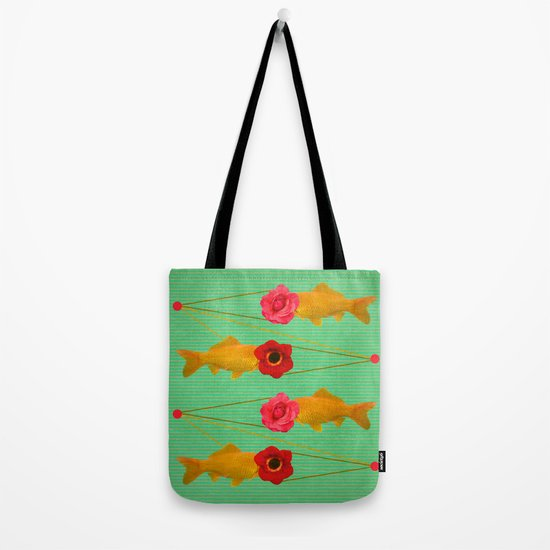 fishes and flowers Tote Bag