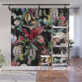 Floral and Birds Wall Mural