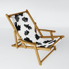 Falling Autumn Leaves in Black and White Sling Chair
