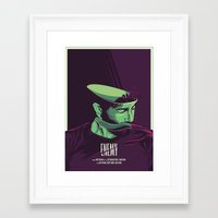 movie poster Framed Art Prints featuring Enemy - Alternative movie poster by FourteenLab