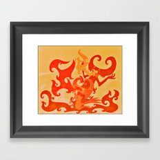 Fire Inside Framed Art Print