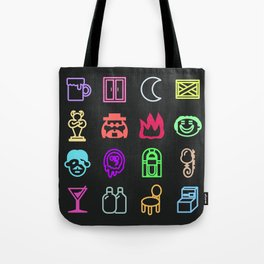 Moonside neon 1 Tote Bag