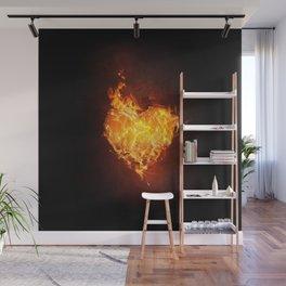Burning Heart Wall Mural