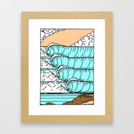 Cloudy cliff side Framed Art Print