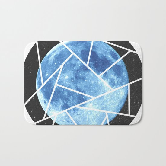 Blue Moon Minimal Design Bath Mat
