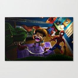 A Hero Falls Canvas Print
