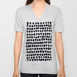 Black Dots Unisex V-Neck