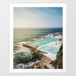 Bondi Icebergs Club | Bondi Beach Sydney Australia Ocean Coastal Travel Photography Art Print