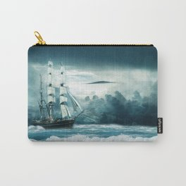 Blue Ocean Ship Storm Clouds Carry-All Pouch