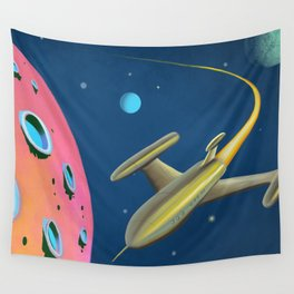 Fantastic Adventures in Outer Space Wall Tapestry