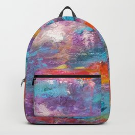 Colourful Abstract Background Backpack