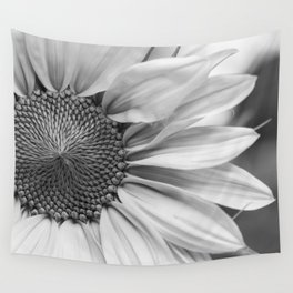 The Flower (Black and White) Wall Tapestry