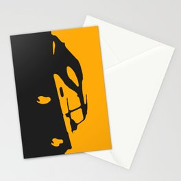 Saab 900 classic, Yellow on Black Stationery Cards
