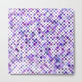 Purple Squared Metal Print