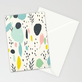 Colourful splotches: modern ink brush strokes with bright colors Stationery Cards