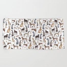 Greyhounds and Whippets Beach Towel