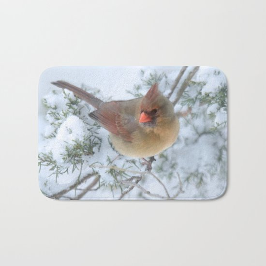 Drifting (Northern Cardinal) Bath Mat