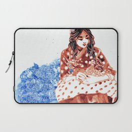 Flowers and Hanbok Laptop Sleeve