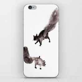 Inky Squirrels iPhone Skin