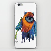 ewok iPhone & iPod Skins featuring Trippy Ewok by Lyn Sweet