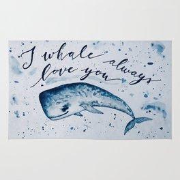 I whale always love you Rug