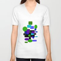 community V-neck T-shirts featuring Community by lillianhibiscus