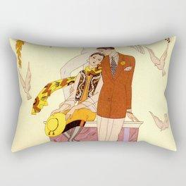 George Barbier - Automne (art deco print) Rectangular Pillow