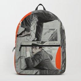 Vintage Movie Posters, Harold Lloyd in Safety Last Backpack