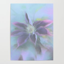 Neon Clematis Poster