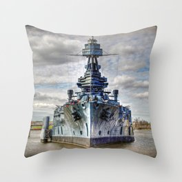 USS Texas Throw Pillow