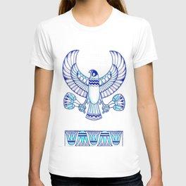 Falcon holding lotuses II T-shirt