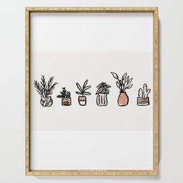 Simple plants Serving Tray