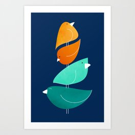 Bird Stack III Art Print