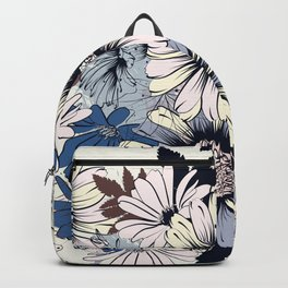 Cute floral pattern in vintage stylewith daisy flowers Backpack