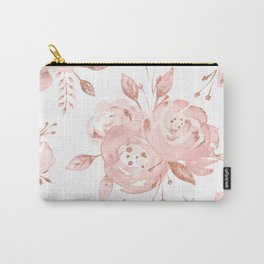 Roses Rose Gold Glitter Pink by Nature Magick Carry-All Pouch