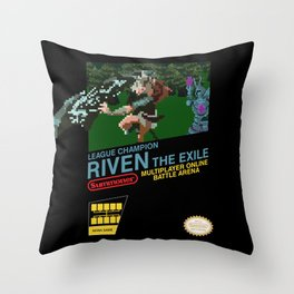 8-bit Champion: Riven Throw Pillow