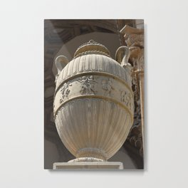 Decorative Urn - Palace Of Fine Arts SF Metal Print