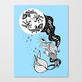 full moon in pisces Canvas Print
