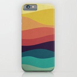 Retro Grunge of Waving Colorful Background illustration iPhone Case