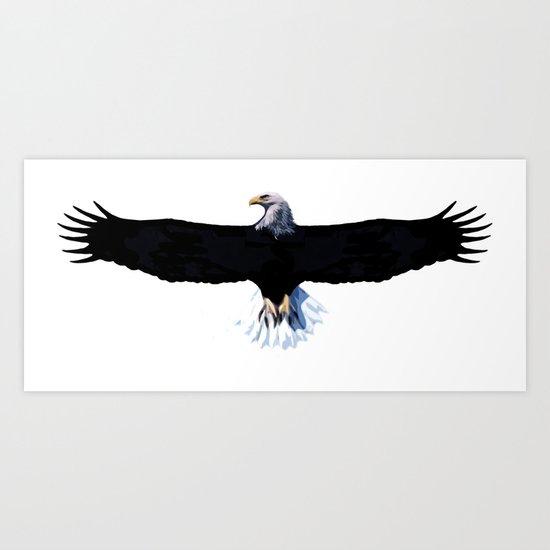 Bald eagle, modification Art Print
