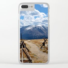 Rocky Mountain Trail Clear iPhone Case