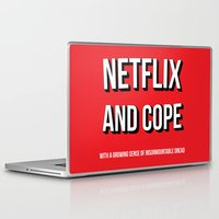 netflix Laptop & iPad Skins featuring Netflix and Cope by Matthew Hadley