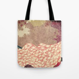 The Red Peacock Tote Bag