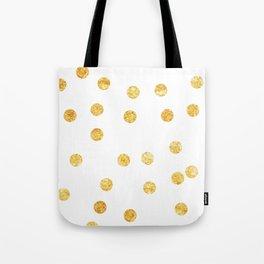 Gold Dots Tote Bag